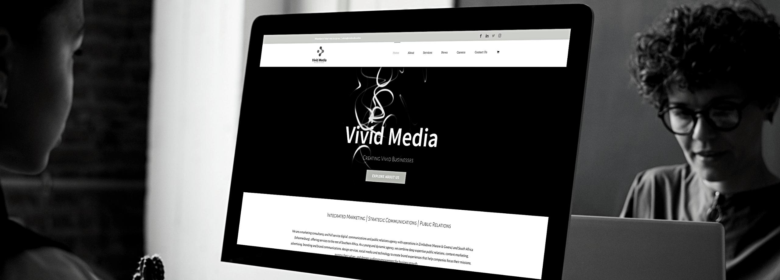 Vivid Media Zimbabwe Website Desktop